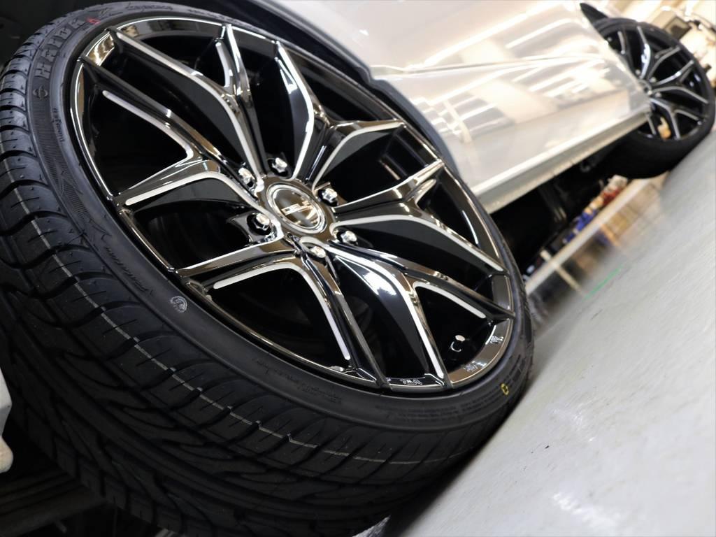 【FLEXオリジナルDellfzerooneアルミホイール20in&HAIDAタイヤ20in】の組み合わせ!!   トヨタ ハイエース 2.7 GL ロング ミドルルーフ 4WD 新品20inDelf01 新品煌テール