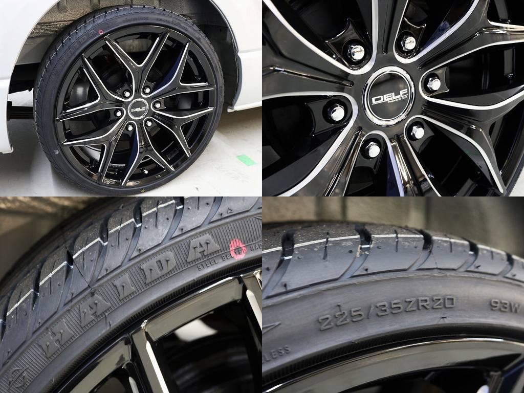 追加カスタムも承っております!!お気軽にお問合せください!!   トヨタ ハイエース 2.7 GL ロング ミドルルーフ 4WD 新品20inDelf01 新品煌テール