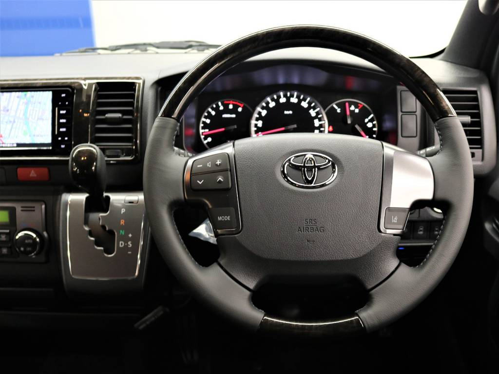 ダークプライムⅡ専用加飾! | トヨタ ハイエースバン 2.8 スーパーGL ダークプライムⅡ ロングボディ ディーゼルターボ 4WD FLEX Ver4内装架装
