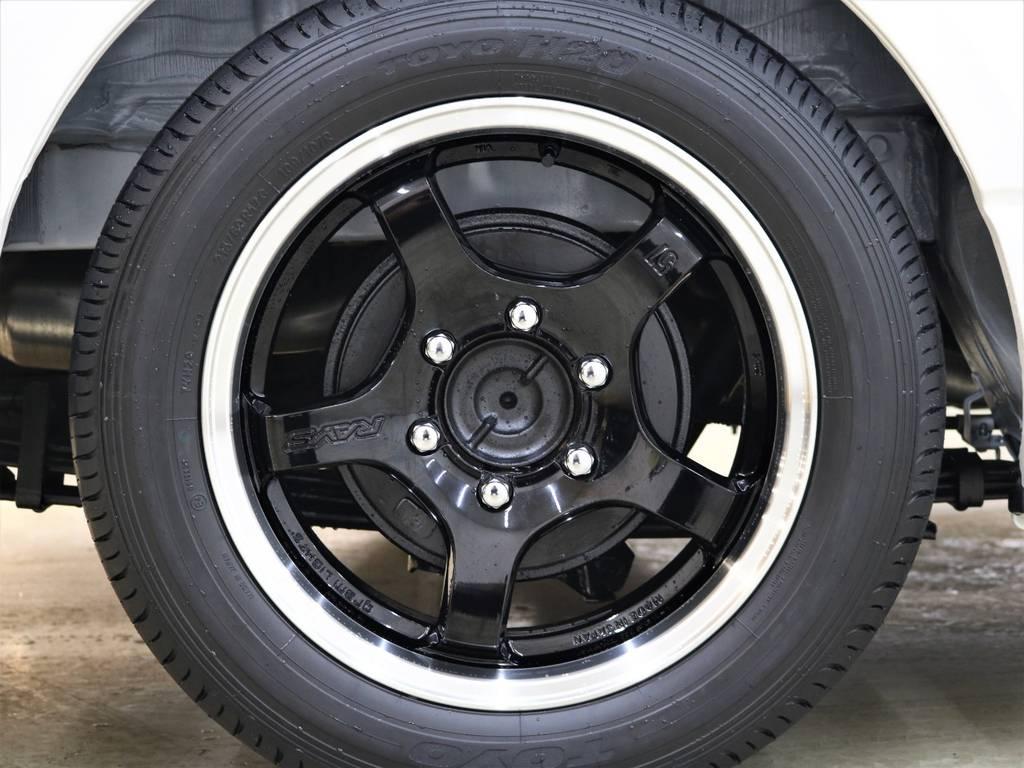Rays GramLights 57CR-X TOYO H20! | トヨタ ハイエースバン 2.8 スーパーGL ダークプライムⅡ ロングボディ ディーゼルターボ 4WD FLEX Ver4内装架装