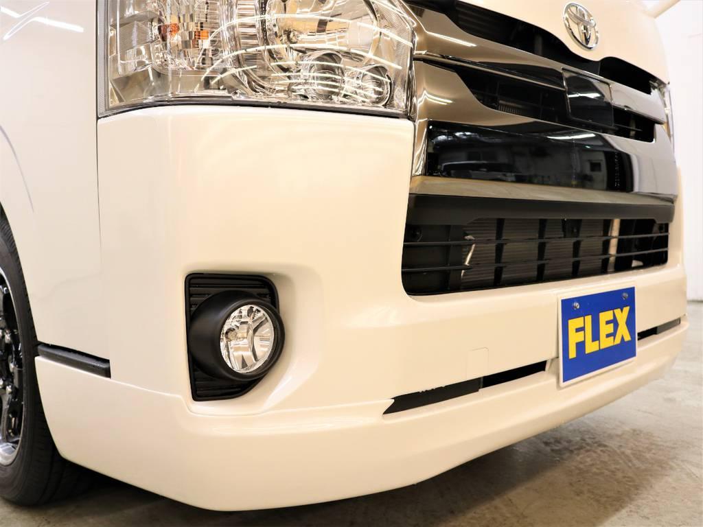 415コブラクリンルックⅢフロントリップスポイラー! | トヨタ ハイエースバン 2.8 スーパーGL ダークプライムⅡ ロングボディ ディーゼルターボ 4WD FLEX Ver4内装架装
