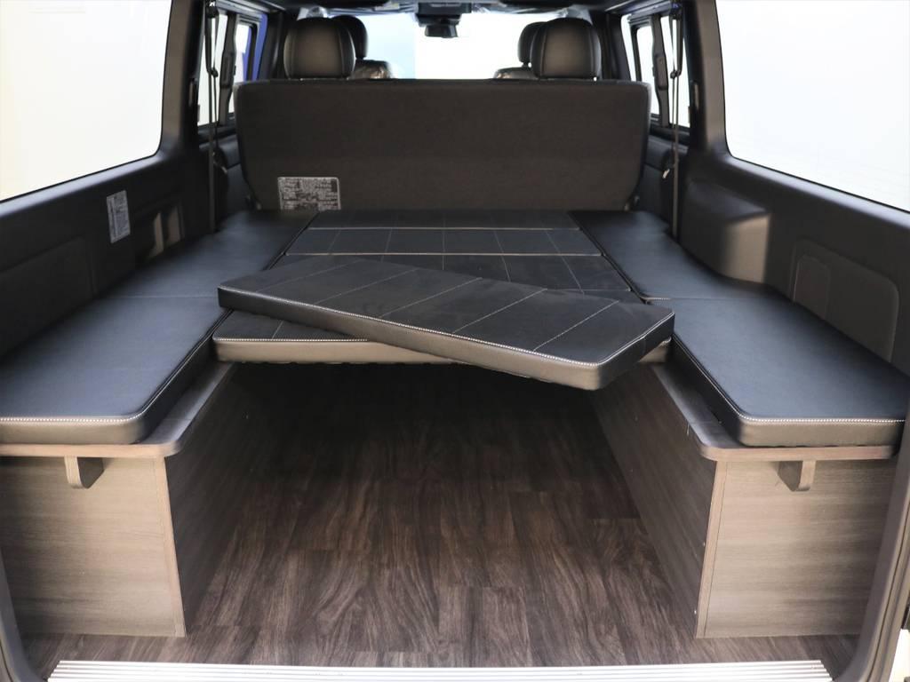 ベッドマットの取り外しは誰にでも簡単に出来ちゃいます! | トヨタ ハイエースバン 2.8 スーパーGL ダークプライムⅡ ロングボディ ディーゼルターボ 4WD FLEX Ver4内装架装