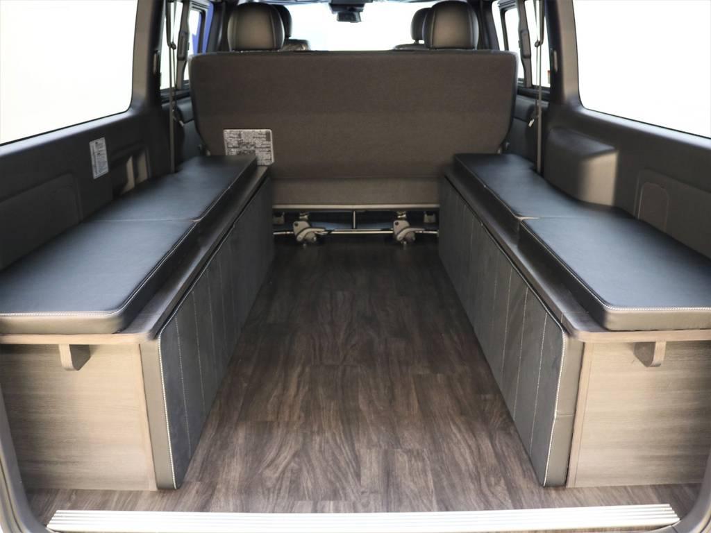荷物を積むスペースもこんなに広々! | トヨタ ハイエースバン 2.8 スーパーGL ダークプライムⅡ ロングボディ ディーゼルターボ 4WD FLEX Ver4内装架装