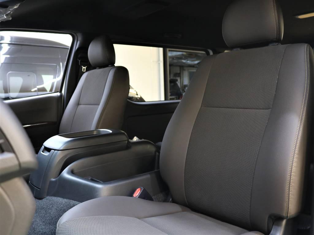 高級感のある内装が素敵です! | トヨタ ハイエースバン 2.7 スーパーGL 50THアニバーサリー リミテッド ワイド ミドルルーフ ロングボディ4WD FLEXベッドキット 煌テール
