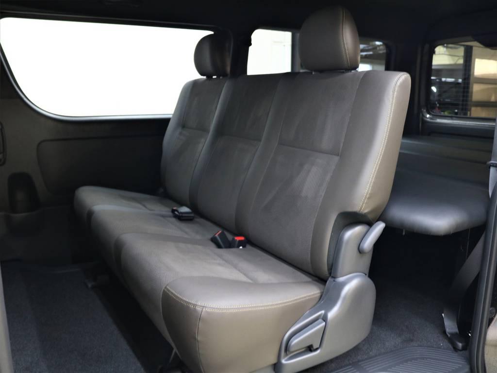 セカンドシートは折り畳み式になっております! | トヨタ ハイエースバン 2.7 スーパーGL 50THアニバーサリー リミテッド ワイド ミドルルーフ ロングボディ4WD FLEXベッドキット 煌テール