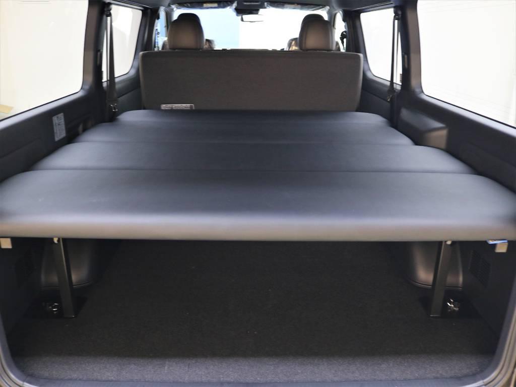 FLEXベッドキット搭載! | トヨタ ハイエースバン 2.7 スーパーGL 50THアニバーサリー リミテッド ワイド ミドルルーフ ロングボディ4WD FLEXベッドキット 煌テール
