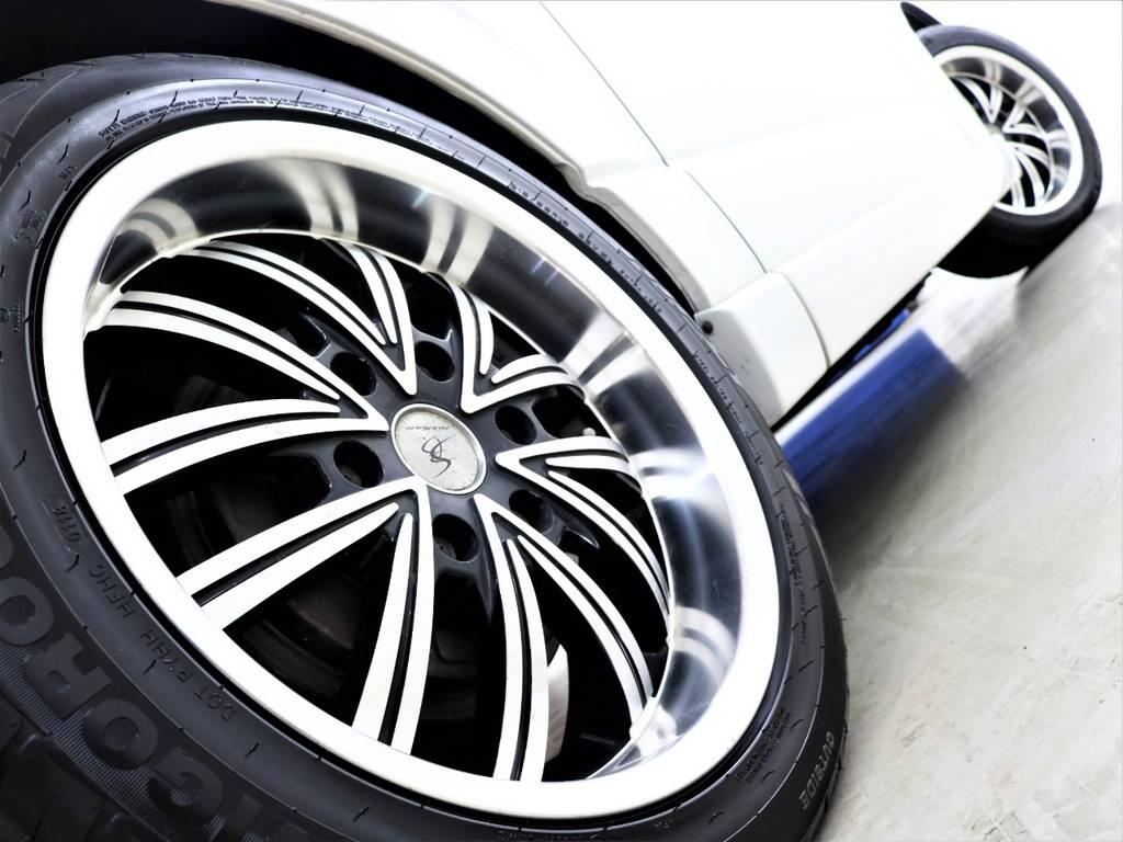 18inchジュネスアルミホイール! | トヨタ レジアスエース 2.7 マルチロールトランスポーター タイプⅠ ワイド ロング 4WD 新品レヴィーアヘッドライト 新品ナビ