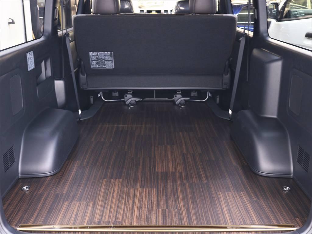 床張り施工済みです! | トヨタ ハイエースバン 2.8 スーパーGL 50TH アニバーサリー リミテッド ロングボディ ディーゼルターボ 4WD フロアボード施工