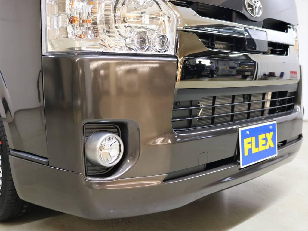 ラブラーク クリンルック3フロントリップスポイラー! | トヨタ ハイエースバン 2.8 スーパーGL 50TH アニバーサリー リミテッド ロングボディ ディーゼルターボ 4WD フロアボード施工