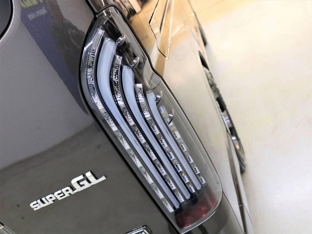 FLEXオリジナル【煌BLACK】LEDテールランプ! | トヨタ ハイエースバン 2.8 スーパーGL 50TH アニバーサリー リミテッド ロングボディ ディーゼルターボ 4WD フロアボード施工