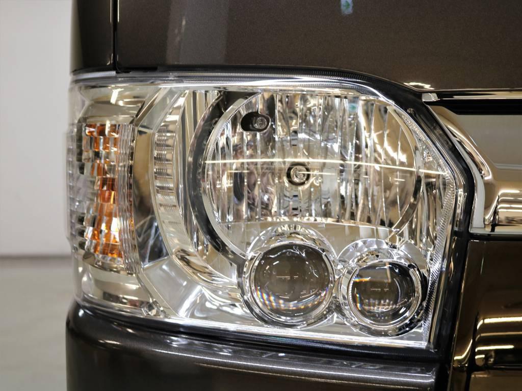 50周年特別仕様車はLEDヘッドランプが標準装備です! | トヨタ ハイエースバン 2.8 スーパーGL 50TH アニバーサリー リミテッド ロングボディ ディーゼルターボ 4WD フロアボード施工