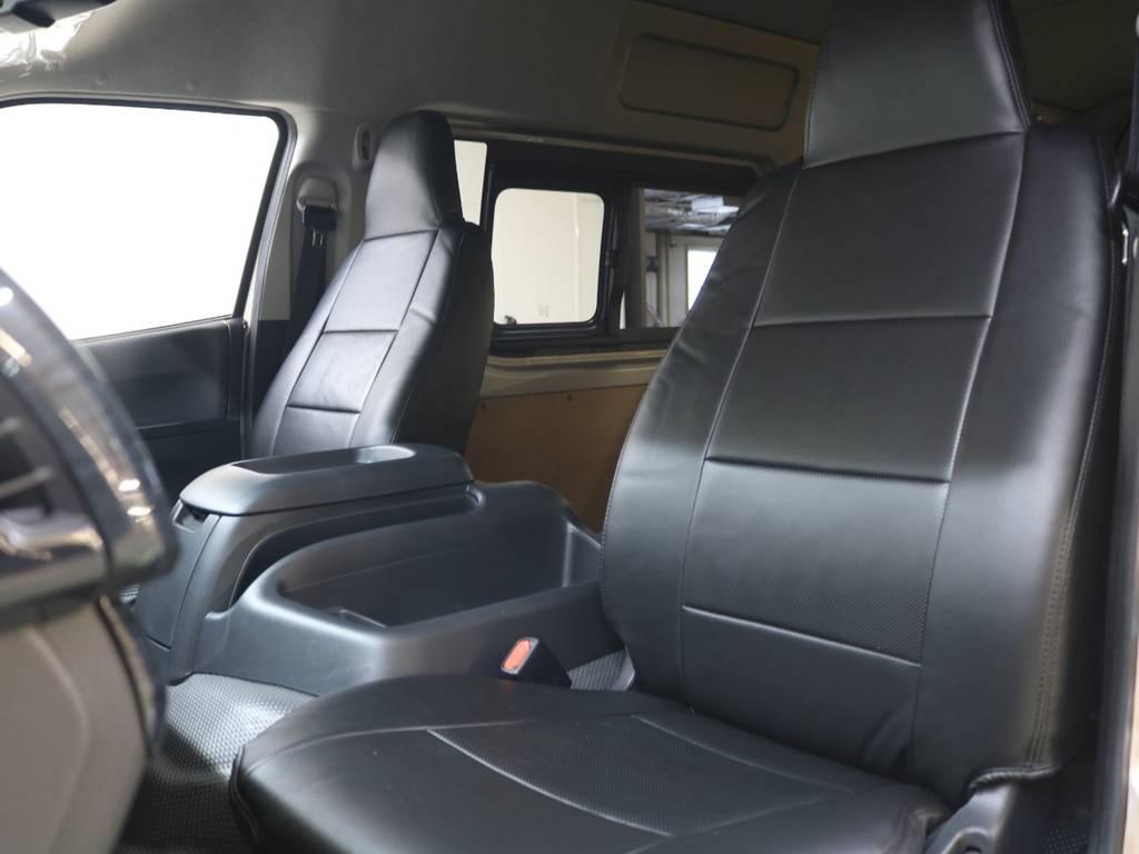 GLパッケージなので前席独立席になっております! | トヨタ ハイエースバン 2.8 DX ワイド スーパーロング ハイルーフ GLパッケージ ディーゼルターボ 4WD FLEXバルベロAW 煌REDテール