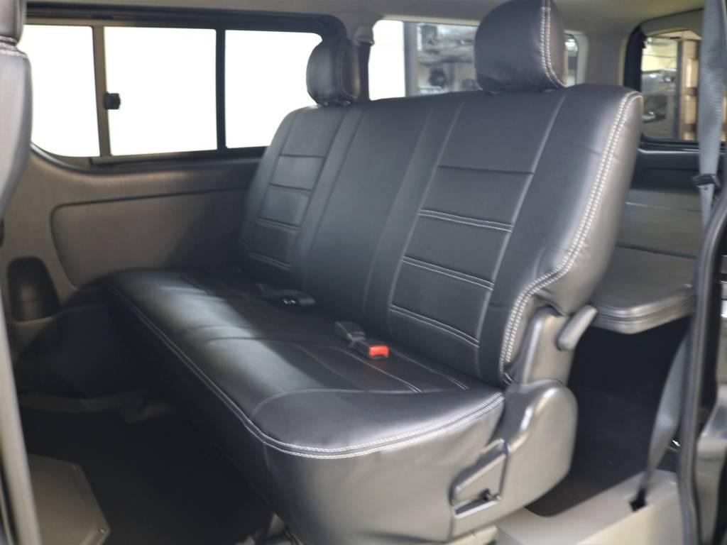 セカンドシートは折り畳み式になっております! | トヨタ ハイエースバン 3.0 スーパーGL ロング ディーゼルターボ 4WD ユーアイマルチウェイフォルドベットキット