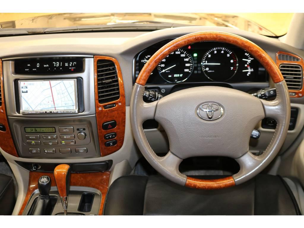 ウッドコンビハンドル&ウッドシフトノブ☆ | トヨタ ランドクルーザー100 4.7 VXリミテッド 4WD