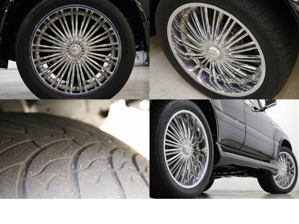 MKWマイアミ22インチAW☆高額な鍛造ホイールになります☆ | トヨタ ランドクルーザー100 4.7 VXリミテッド 4WD