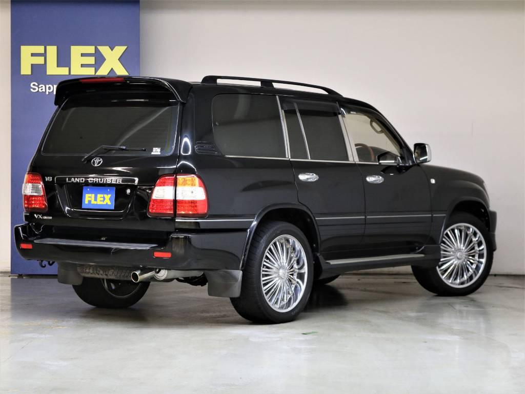 マイナー後5速AT☆全塗装ブラック☆カスタム満載です♪ | トヨタ ランドクルーザー100 4.7 VXリミテッド 4WD