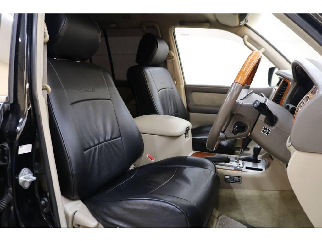 シートカバー装着済みです♪ | トヨタ ランドクルーザー100 4.7 VXリミテッド 4WD