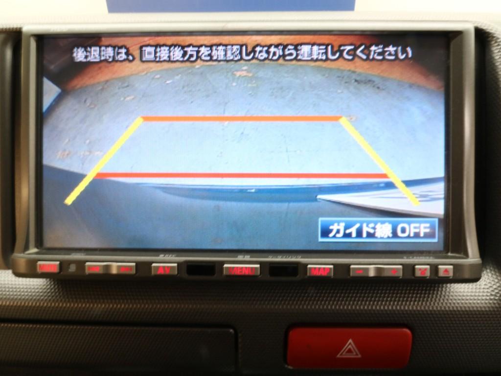 バックカメラも付いているので駐車する際も安心です!!