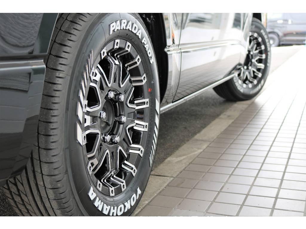 インパクトのあるタイヤホイールです   トヨタ ハイエースバン 2.0 スーパーGL ロング クラフトプラス ブルックリン仕様