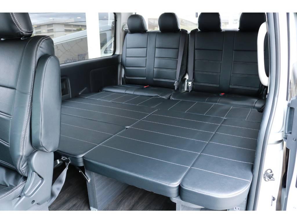 3列目外しのベットキット完備! | トヨタ ハイエース 2.7 GL ロング ミドルルーフ 4WD TSS付 Ver1 ギブソンエアロ