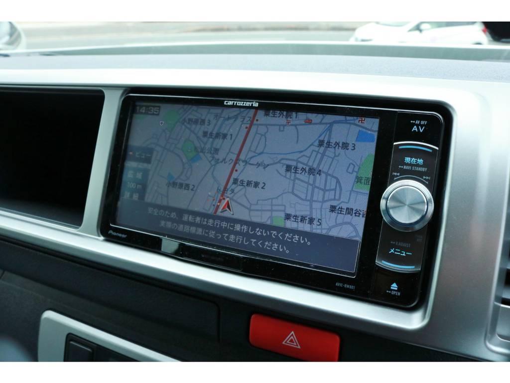 フルセグチューナー完備ナビ!CD録音機能付き&DVDビデオ再生OK! | トヨタ ハイエース 2.7 GL ロング ミドルルーフ 4WD TSS付 Ver1 ギブソンエアロ