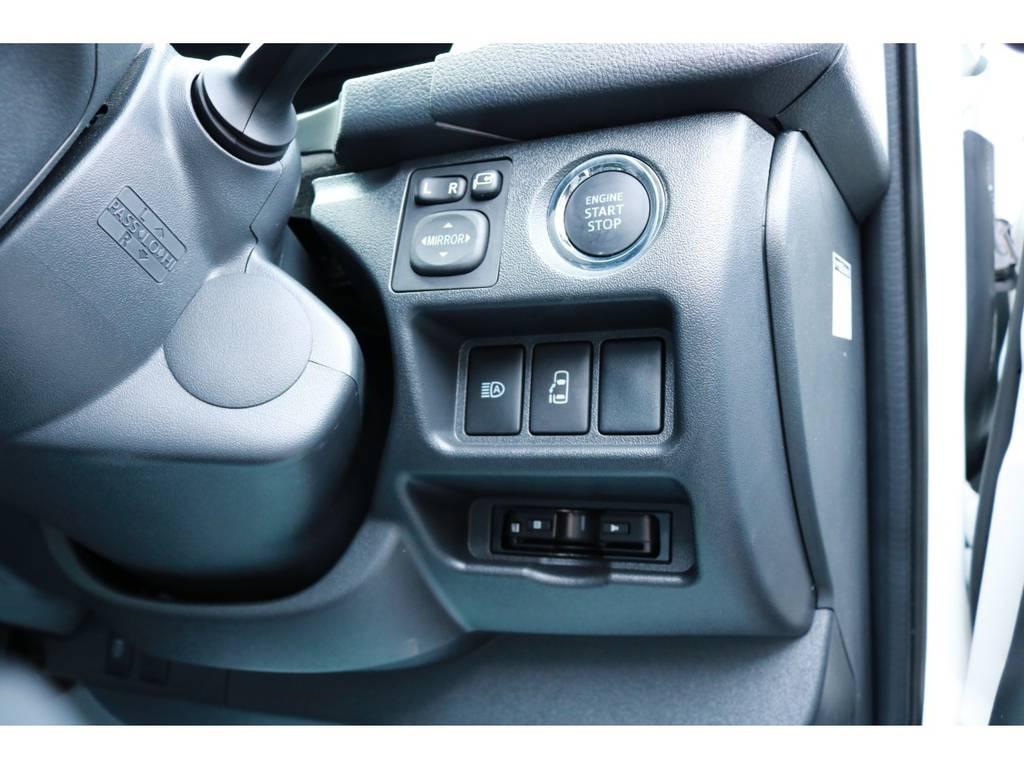 プッシュスタート&スマートエントリーシステム!パワースライドドア!ビルトインETC! | トヨタ ハイエース 2.7 GL ロング ミドルルーフ 4WD TSS付 Ver1 ギブソンエアロ