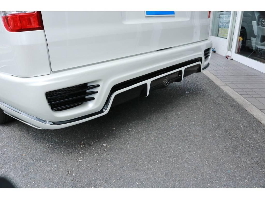 バックフォグ付きリアフルバンパーエアロ! | トヨタ ハイエース 2.7 GL ロング ミドルルーフ 4WD TSS付 Ver1 ギブソンエアロ