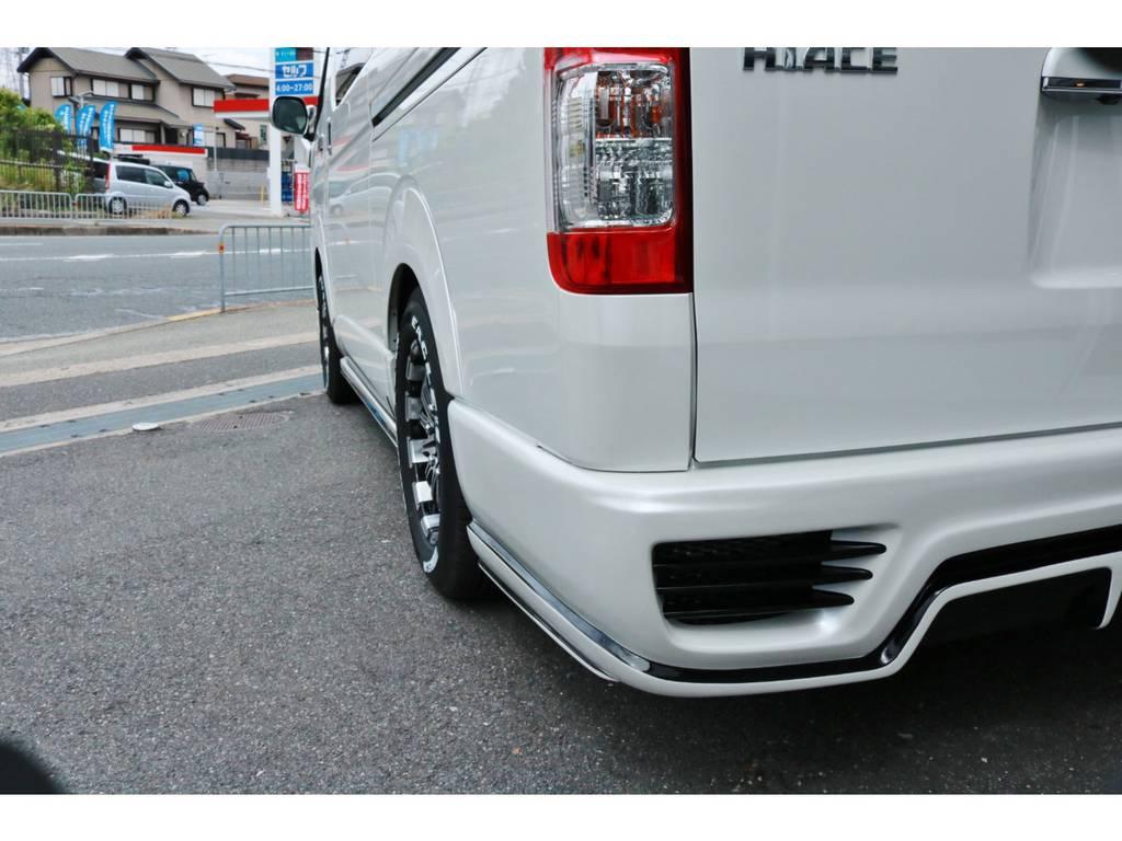オーバーフェンダーも付いてますよ~ | トヨタ ハイエース 2.7 GL ロング ミドルルーフ 4WD TSS付 Ver1 ギブソンエアロ