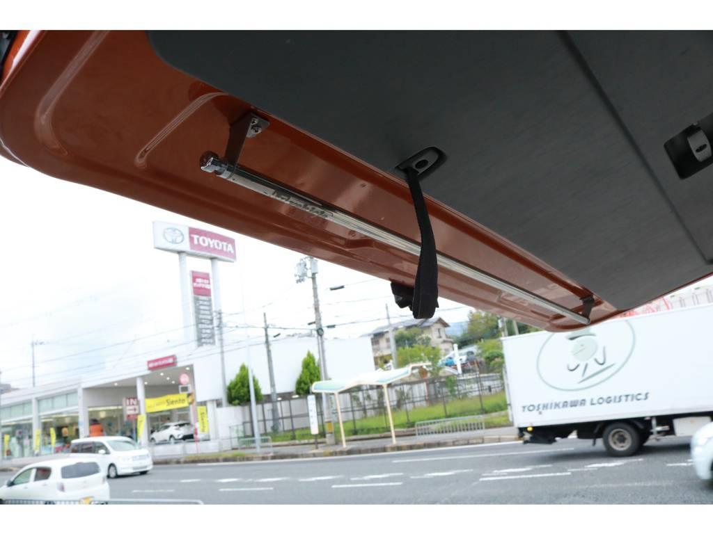 リアゲートにはハンガーレールも付いてます! | トヨタ ハイエースバン 2.7 スーパーGL ワイド ロング ミドルルーフ RENOCAコーストライン