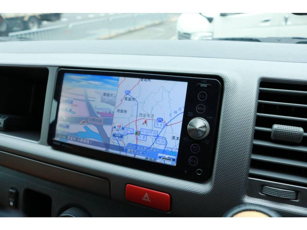 純正HDDフルセグナビ! | トヨタ ハイエースバン 2.7 スーパーGL ワイド ロング ミドルルーフ RENOCAコーストライン