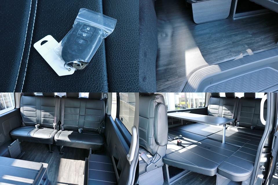 Ver.1内装は床パネルにベットキット!テーブルセットも完備!現車は大阪店在庫ですのでお求め&お問い合わせは大阪店までお気軽にどうぞ!