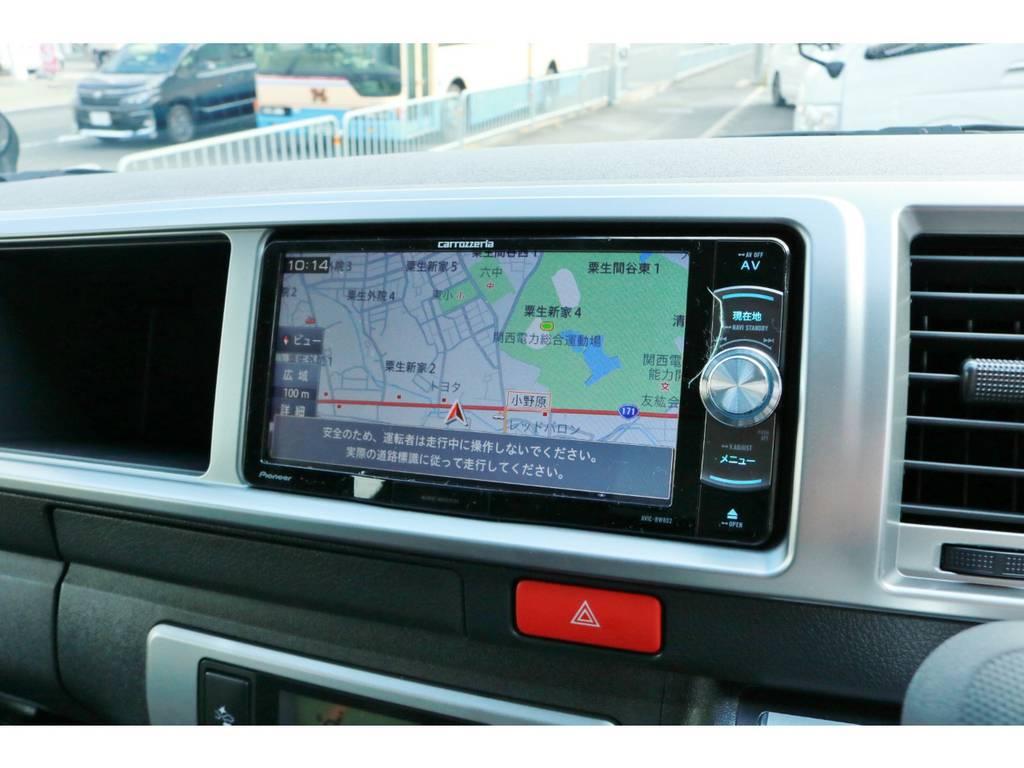 フルセグチューナー完備ナビ!CD録音機能&DVDビデオ再生OK! | トヨタ ハイエース 2.7 GL ロング ミドルルーフ 4WD TSS付!寒冷地仕様!アレンジAS!