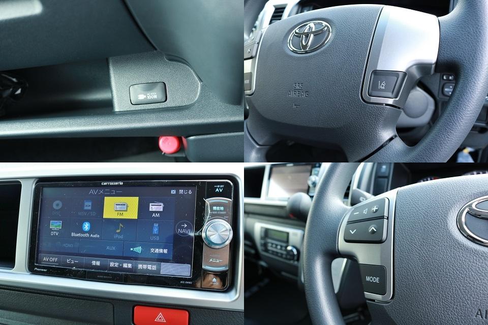 ステアリングスイッチでオーディオ操作も手元で可能! | トヨタ ハイエース 2.7 GL ロング ミドルルーフ 4WD TSS付!寒冷地仕様!アレンジAS!