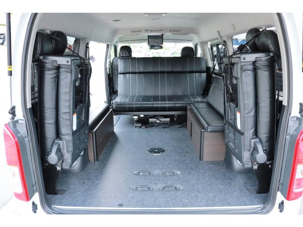 ラゲッジモードでは広大な空間を確保できます! | トヨタ ハイエース 2.7 GL ロング ミドルルーフ 4WD TSS付!寒冷地仕様!アレンジAS!