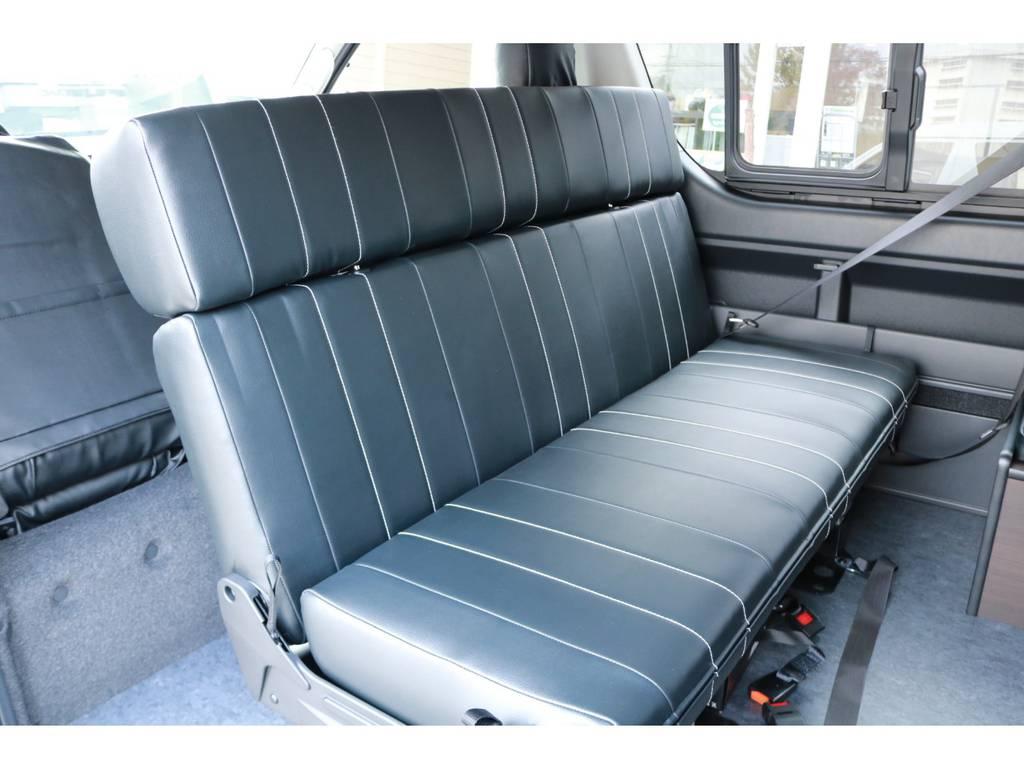 2列目は対座シートにもなります! | トヨタ ハイエース 2.7 GL ロング ミドルルーフ 4WD TSS付!寒冷地仕様!アレンジAS!