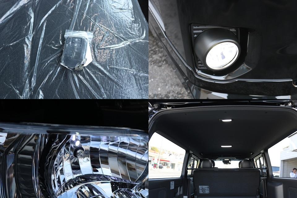 天張りもブラックです!オリジナルLEDフォグバルブ!   トヨタ ハイエースバン 2.8 スーパーGL ダークプライムⅡ ロングボディ ディーゼルターボ ☆LEDエディション☆