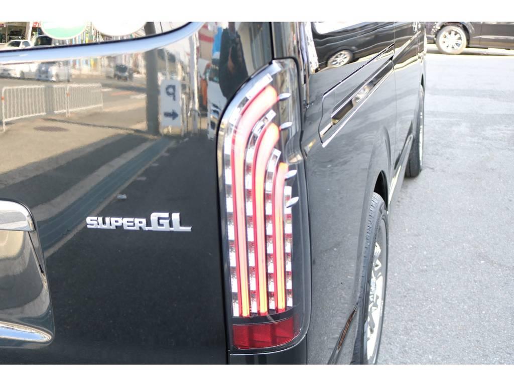FLEXオリジナルLEDテール煌BLACK!   トヨタ ハイエースバン 2.8 スーパーGL ダークプライムⅡ ロングボディ ディーゼルターボ ☆LEDエディション☆
