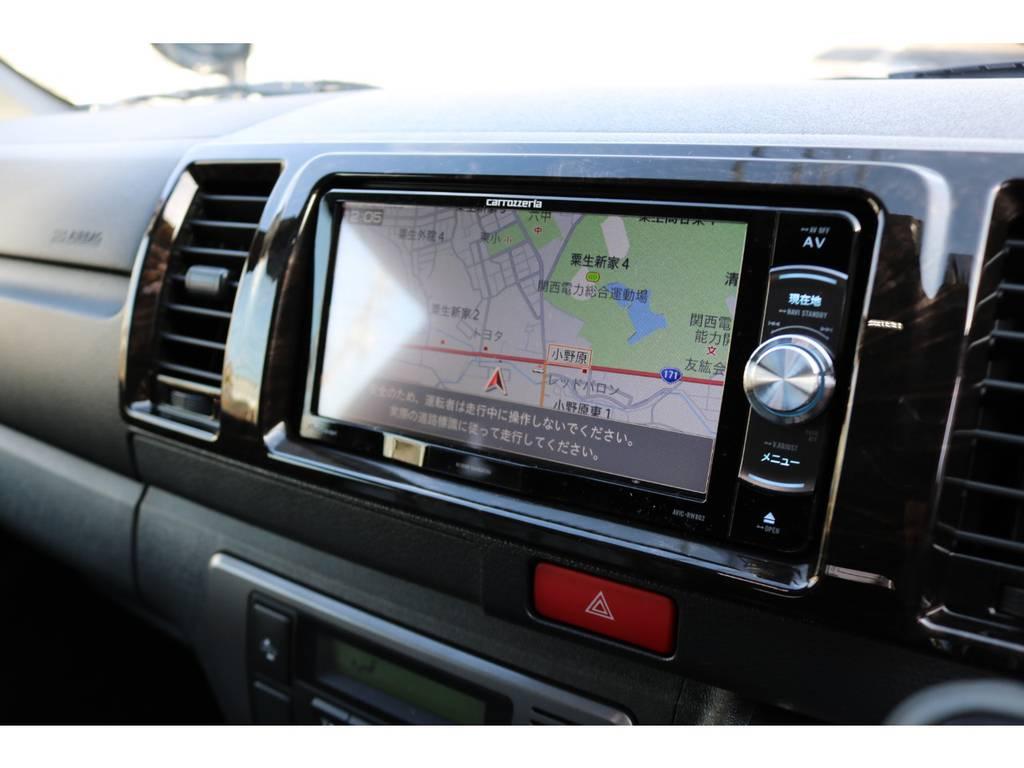 フルチューナー完備ナビ!CD録音機能&DVDビデオ再生OK!   トヨタ ハイエースバン 2.8 スーパーGL ダークプライムⅡ ロングボディ ディーゼルターボ ☆LEDエディション☆