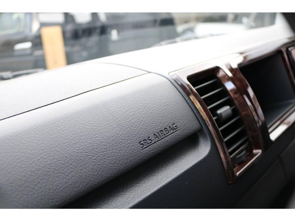 助手席SRSエアバッグ完備! | トヨタ ハイエースバン 2.8 スーパーGL 50TH アニバーサリーLTD ワイド ミドルルーフ ロングボディ Dターボ 2カメラドライブレコーダー搭載