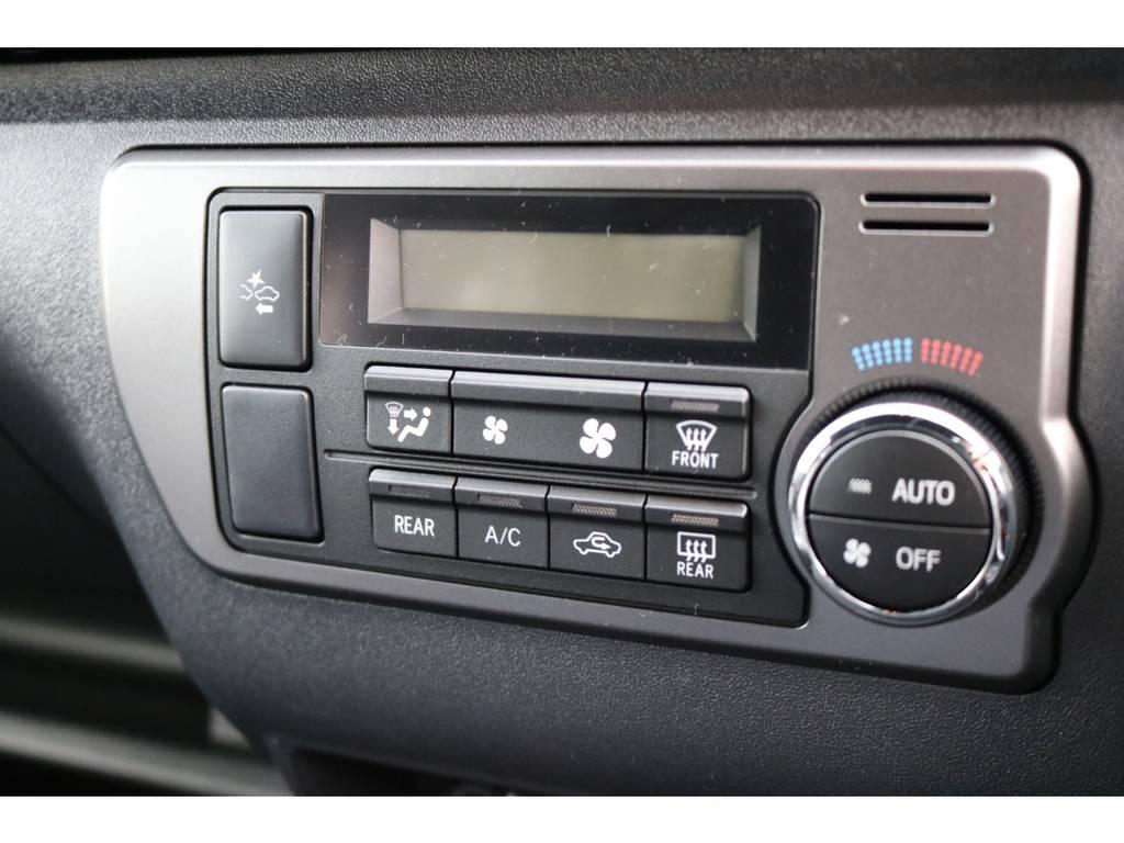 オートエアコン標準装備! | トヨタ ハイエースバン 2.8 スーパーGL 50TH アニバーサリーLTD ワイド ミドルルーフ ロングボディ Dターボ 2カメラドライブレコーダー搭載