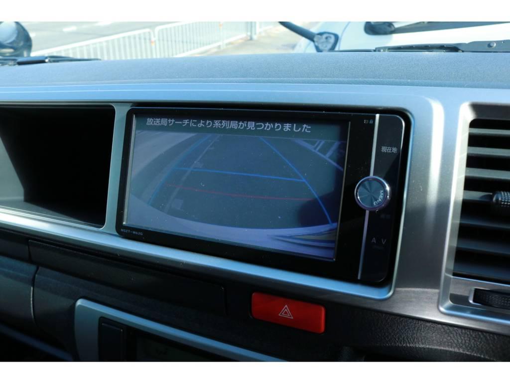 カラーバックカメラも付いてます! | トヨタ ハイエース 2.7 グランドキャビン 4WD ベットキット完備