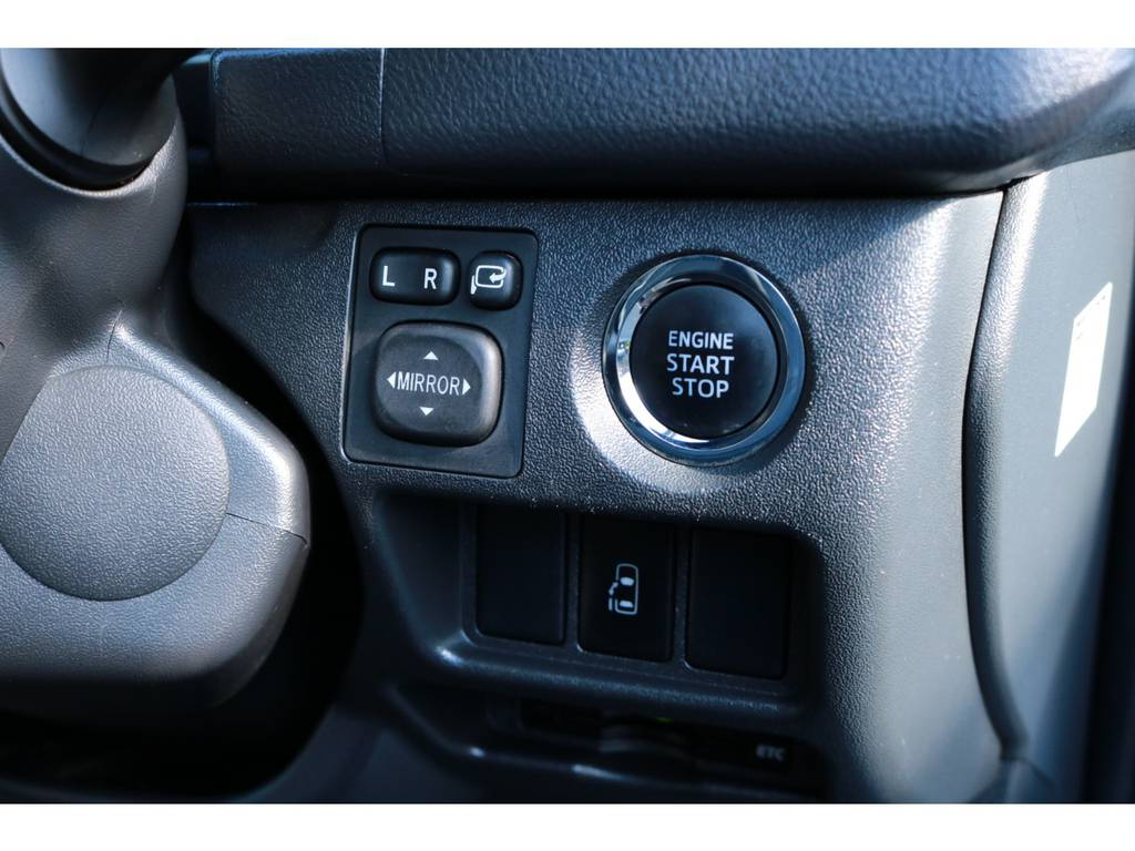 プッシュスタート&スマートエントリーシステム! | トヨタ ハイエース 2.7 グランドキャビン 4WD ベットキット完備