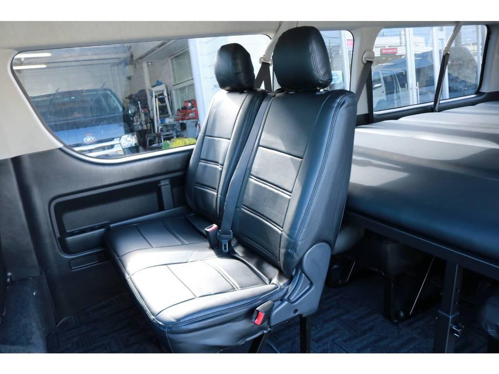 2列目2人掛け純正シートです。 | トヨタ ハイエース 2.7 グランドキャビン 4WD ベットキット完備