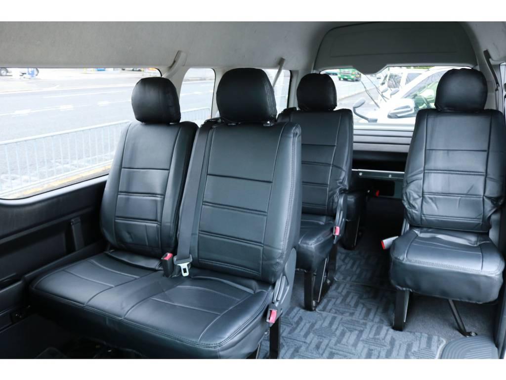 前向き7人乗りモード! | トヨタ ハイエース 2.7 グランドキャビン 4WD ベットキット完備