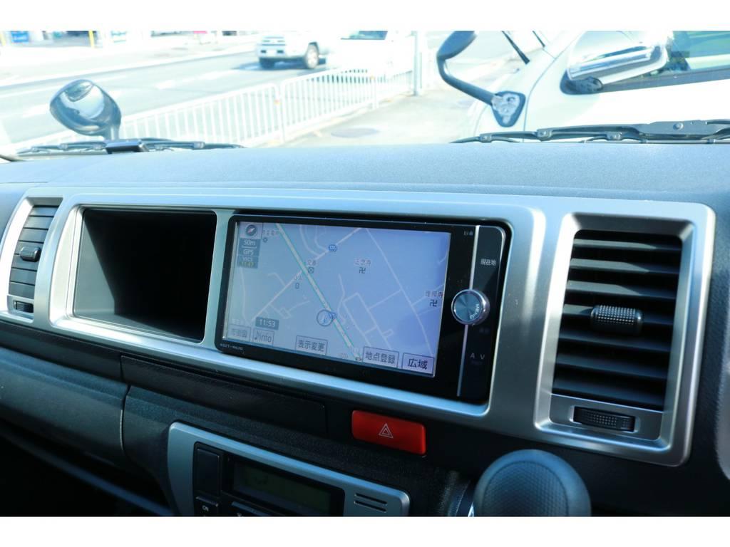 フルセグチューナー完備ナビ!CD録音機能&DVDビデオ再生OK! | トヨタ ハイエース 2.7 グランドキャビン 4WD ベットキット完備