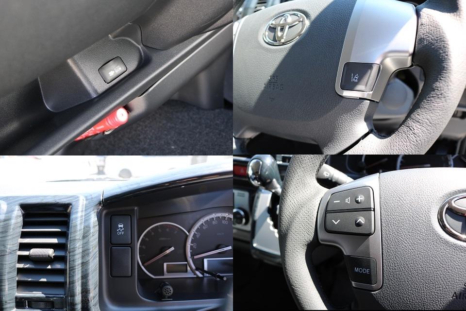 TSS(トヨタセーフティーセンス)付き!ステアリングスイッチも完備! | トヨタ ハイエース 2.7 GL ロング ミドルルーフ シートアレンジVer.2!即納車可能!