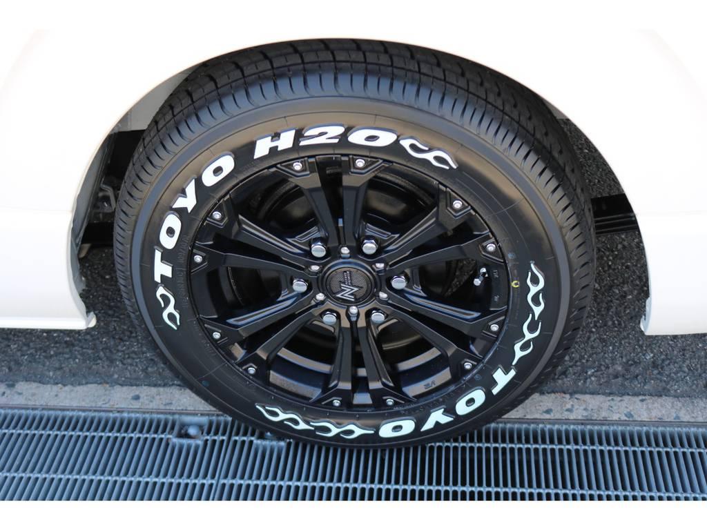 ナイトロパワー ジャベリン16AW&H20ホワイトレタータイヤ! | トヨタ ハイエース 2.7 GL ロング ミドルルーフ シートアレンジVer.2!即納車可能!