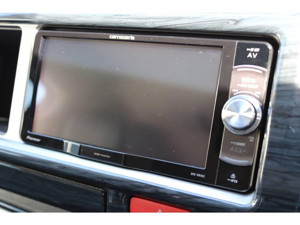 フルセグチューナー完備ナビ!CD録音機能&DVD再生OK! | トヨタ ハイエース 2.7 GL ロング ミドルルーフ シートアレンジVer.2!即納車可能!