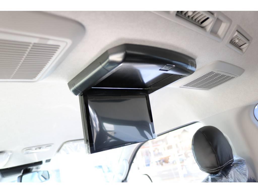 カロッツェリア製フリップダウンモニター! | トヨタ ハイエース 2.7 GL ロング ミドルルーフ シートアレンジVer.2!即納車可能!