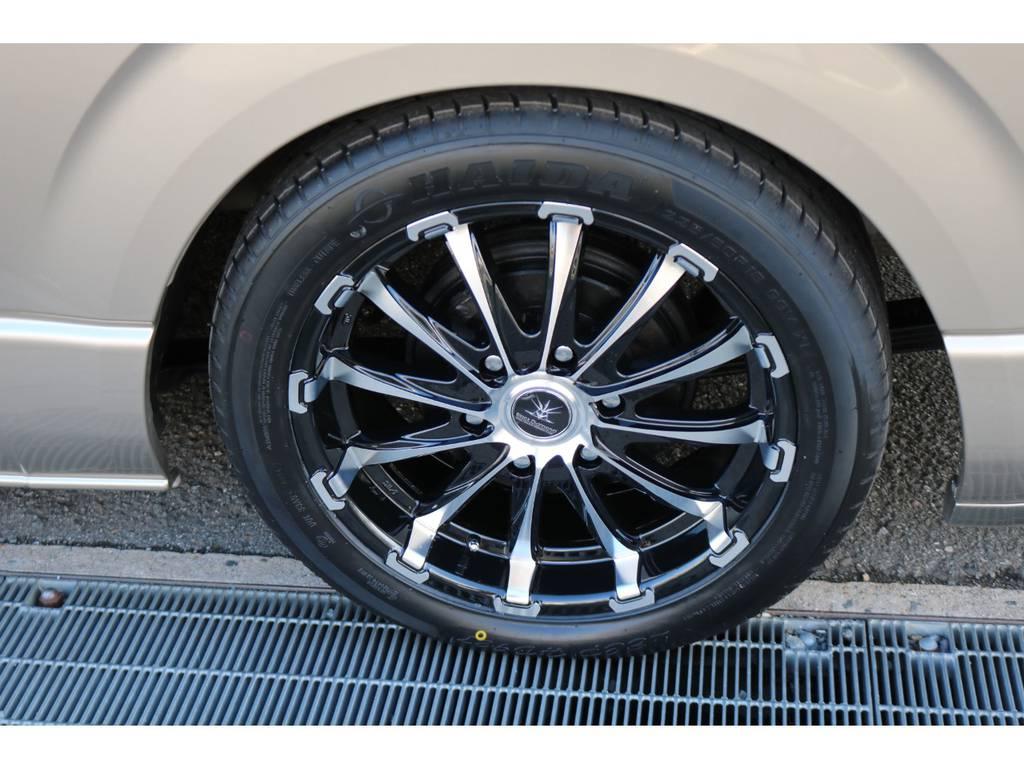ブラックダイヤモンド18インチAW! | トヨタ ハイエース 2.7 グランドキャビン 3列シート8人乗りキャンピング